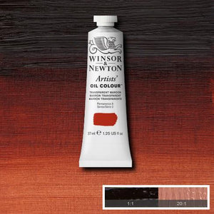 Winsor & Newton Artist Oil Colour 37ml tube-  TRANSPARENT MAROON