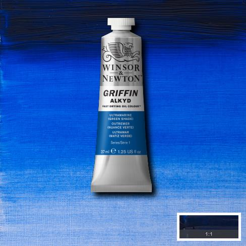 Winsor & Newton Griffin Alkyd Oil Colour 37ml tube-	Ultramarine (Green Shade)