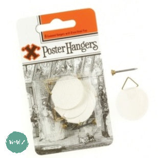 Framing Accessories - X- HOOK POSTER HANGERS GUMMED