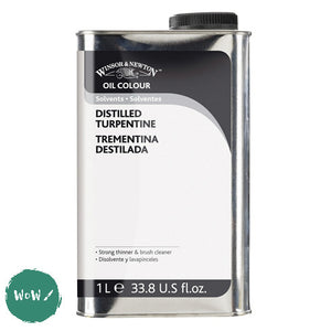 Oil Painting Solvents- Winsor & Newton - DISTILLED TURPENTINE 1 Litre