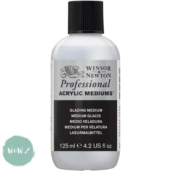 Acrylic Mediums- Winsor & Newton Professional-  125ML GLAZING MEDIUM