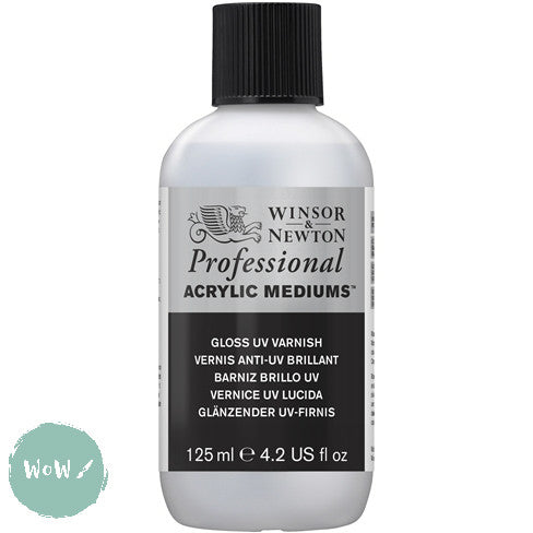 Acrylic Mediums- Winsor & Newton Professional-  125ML GLOSS UV VARNISH