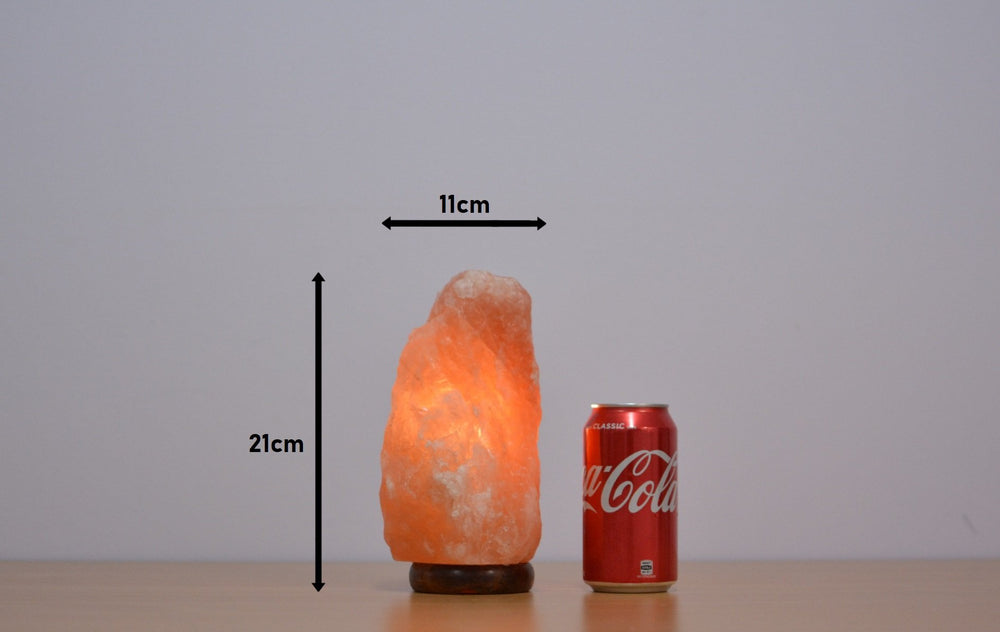 2-3Kg Himalayan Salt Lamp (Timber Base) Natural Shaped