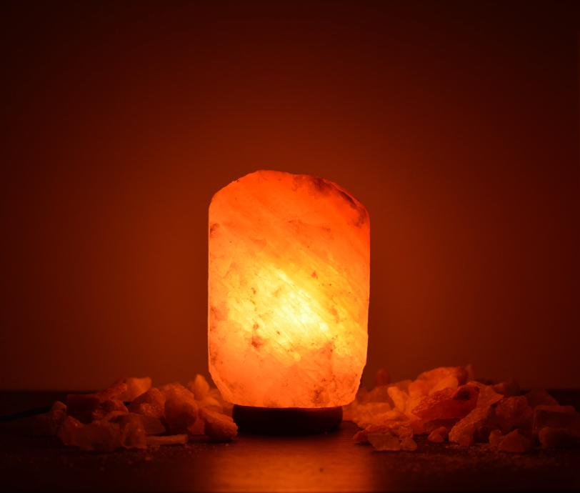 3-5Kg Himalayan Salt Lamp (Timber Base) Natural Shaped