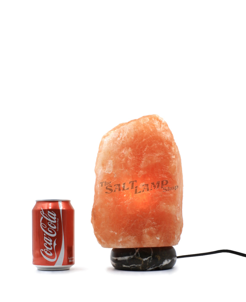 5-7kg Himalayan Salt Lamp (Black and Gold Marble Base)