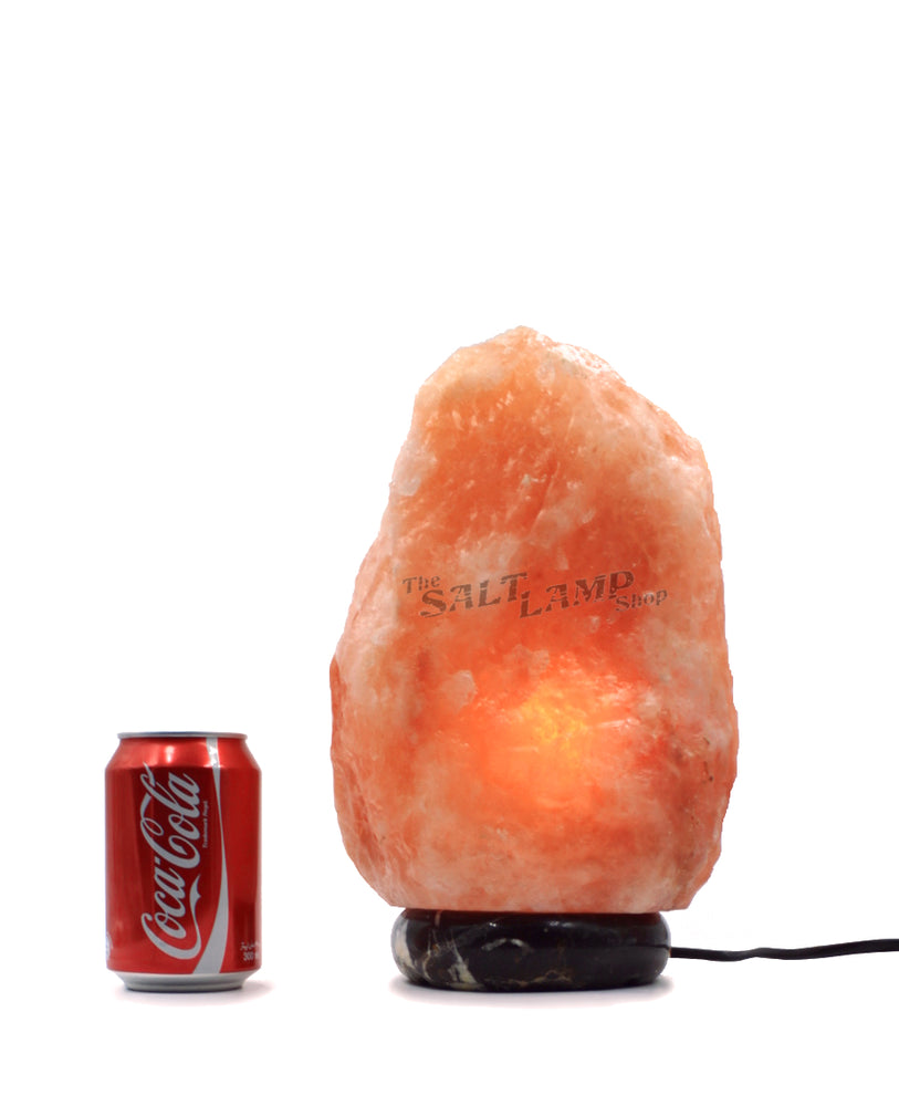 7-10kg Himalayan Salt Lamp (Black and Gold Marble Base)