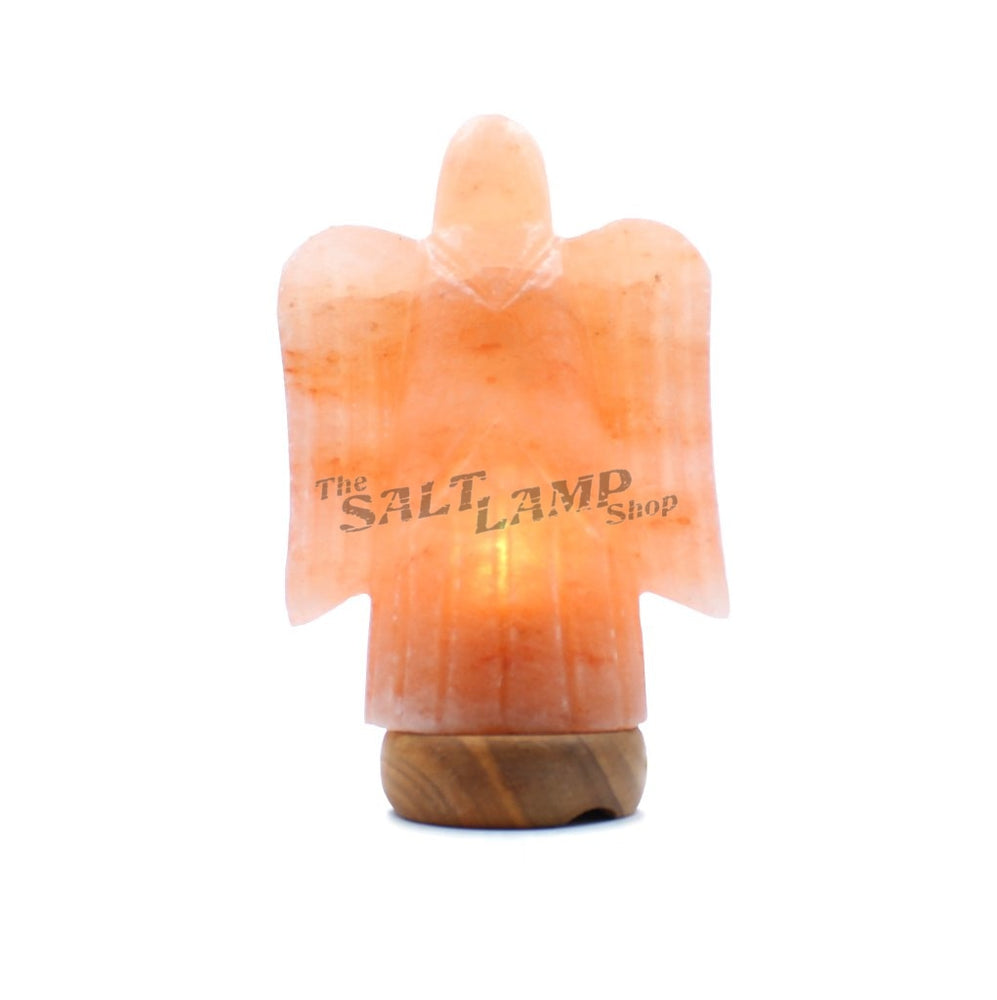 Angel Salt Lamp (Tmber Base) Crafted