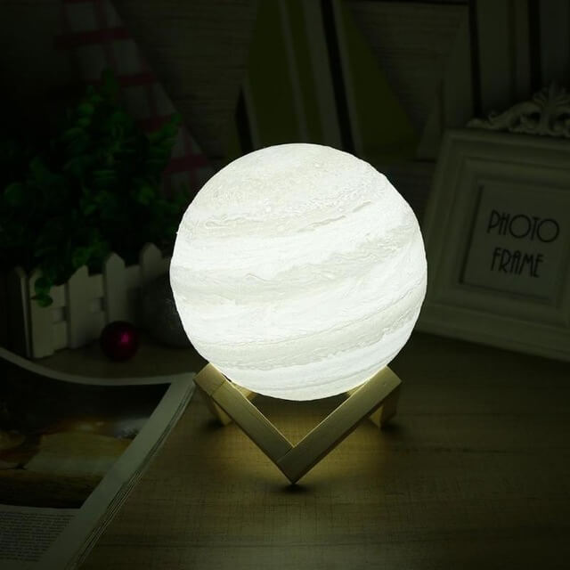 Touch Activated Dimmable Jupiter Lamp (3D Printed)