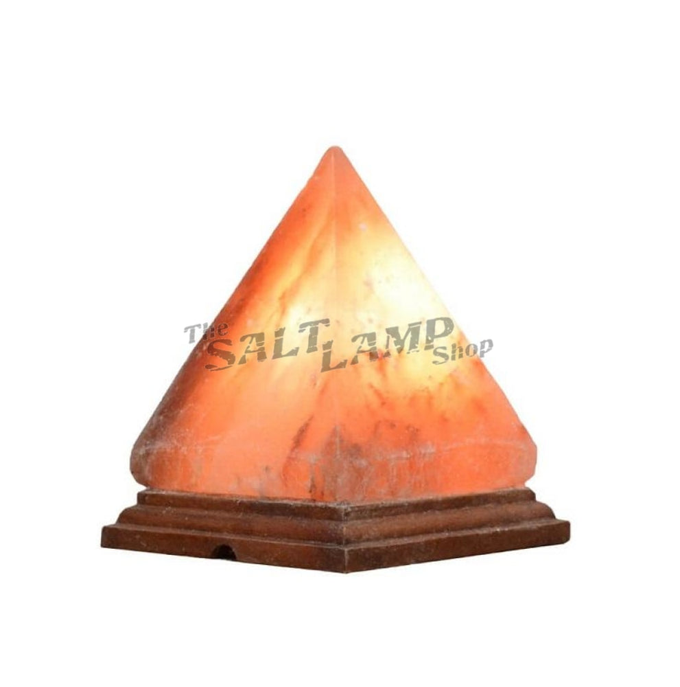 Pyramid Salt Lamp (Timber Base)