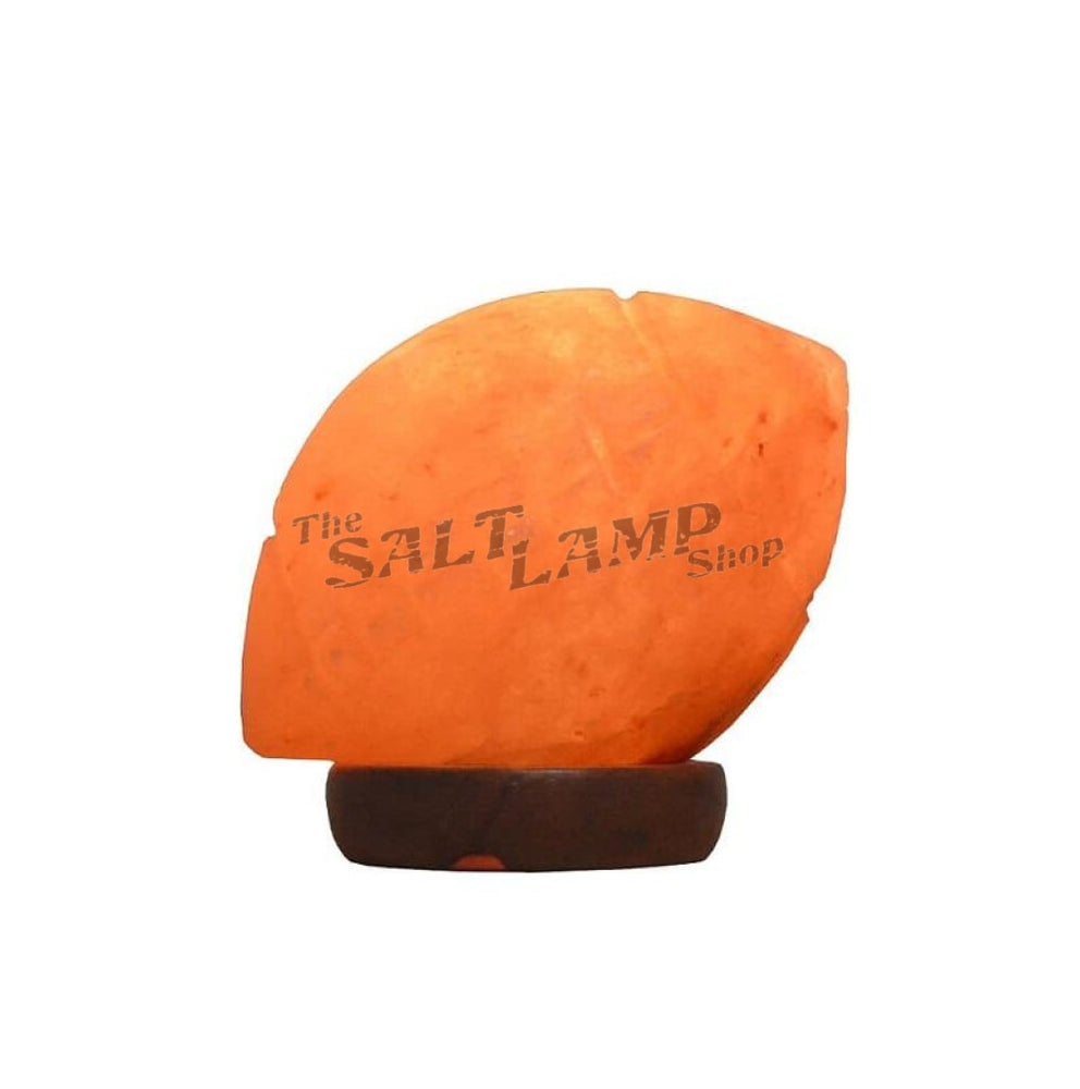 Rugby Ball Salt Lamp (Timber Base)