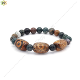 bracelet indien type yoga orange