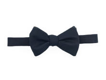Textured Wool/Silk Bow Tie - Black - Self Tie - Shawn Christopher
