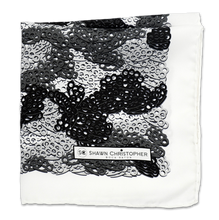 Brass Knuckles Camouflage Pocket Square - Black and White - Shawn Christopher
