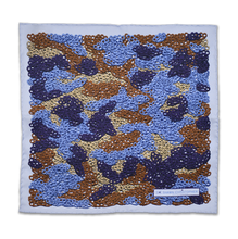 Brass Knuckles Camouflage Pocket Square - Blue and Tan - Shawn Christopher