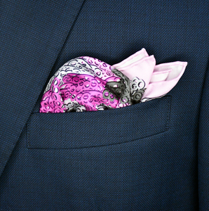 Brass Knuckles Camouflage Pocket Square - Purple and Grey - Shawn Christopher