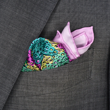 Brass Knuckles Camouflage Pocket Square - Purple and Teal - Shawn Christopher