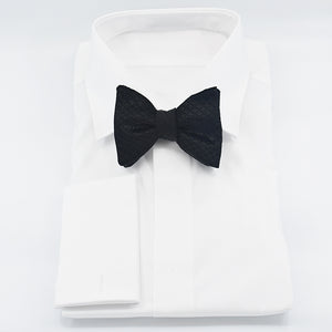 Scabal Collection - Classic 3.2in Bow Tie - Diamond Tufted Velvet - Reversible - Shawn Christopher
