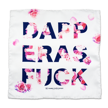 Dapper As F*ck Roses Pocket Square - White, Navy, Fuchsia - Shawn Christopher