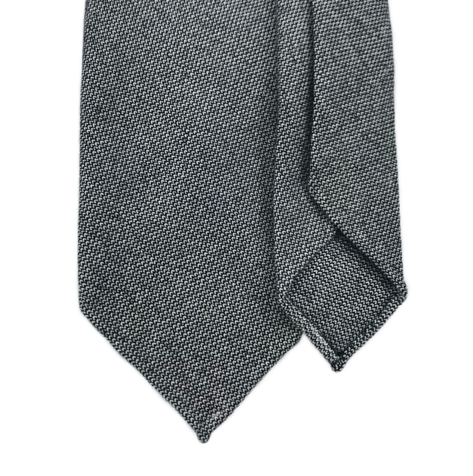 7-Fold Cashmere Tie - Grey - Handrolled - Shawn Christopher