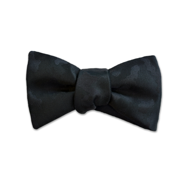 Scabal Collection - Modified Butterfly Bow Tie - Black Camo - Reversible - Shawn Christopher