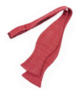 Wool Bow Tie - Red - Self Tie - Shawn Christopher