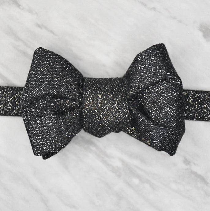Scabal Collection - Wide Line Bow Tie - Super 130s Wool and Lurex - Shawn Christopher
