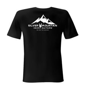 Silver Mountain Hemp Guitars T-shirt - We Go to Eleven