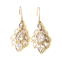1 Carat Diamond Drop Gold Earrings by SommerSparkle