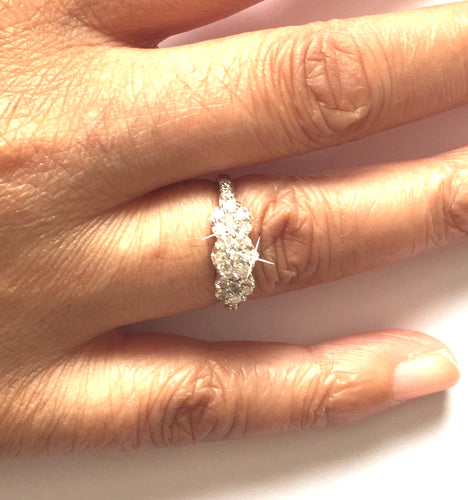 1/2 Carat Diamond Cluster Gold Ring