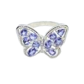 Butterfly Tanzanite Sterling Silver Ring by SOMMERSPARKLE
