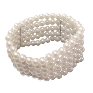 Classic Pearl Bead Corsage Bracelet