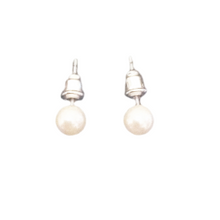 Classic Pearl Bead Stud Earrings