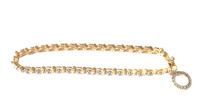 Diamond Swirl Design Bracelet