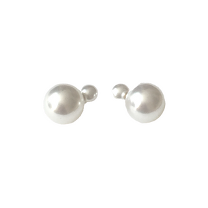 Dual Faux Pearl Earrings
