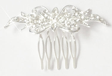 Floral Crystal Hair Comb, An ideal hair accessory to decorate your hair at a wedding, prom, party, or other occasion