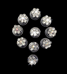 Crystal Flower Hair Jewel, feel like a fairytale princess and be the epitome of romance and glamour with a dazzling Crystal Flower Hair jewel, coil, spiral or twist. This beautiful hair decoration can be worn at a wedding, communion or prom
