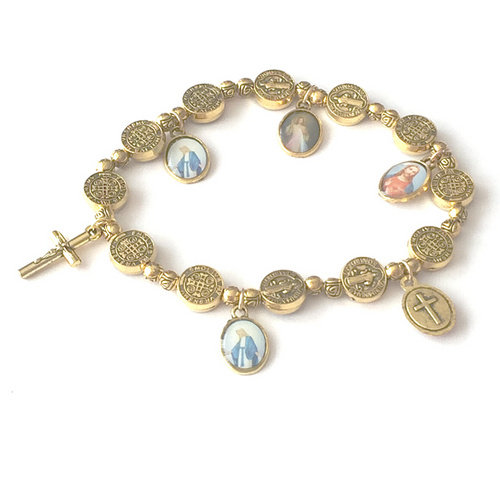 Gold Religious Bracelet by SommerSparkle