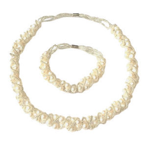 'Grace' Pearl Necklace Set