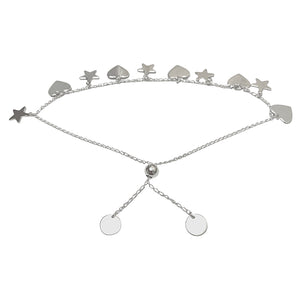 Hearts and Stars Sterling Silver Bracelet by SOMMERSPARKLE