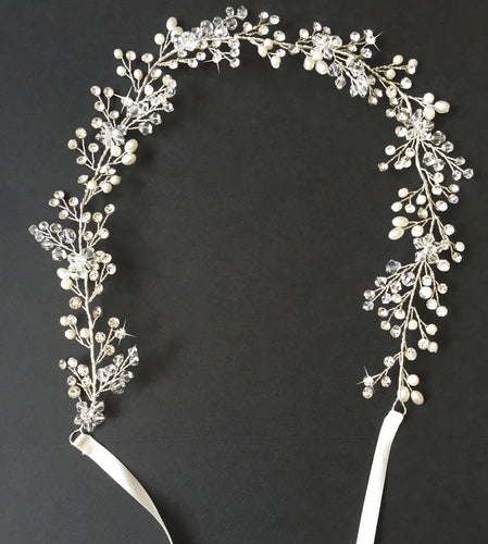 'Josephina' Hair Vine, Elegant and graceful, this beautiful elaborate head piece is a celebration in itself and is one to be remembered