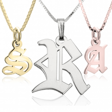 Medieval Style Initial Necklace from SommerSparkle