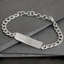 Personalised Mens Steel ID Name Bracelet