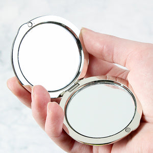 Personalised Bridesmaid Compact Mirror