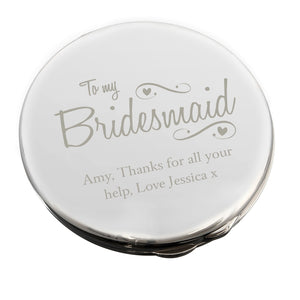 Personalised Bridesmaid Compact Mirror from SommerSparkle