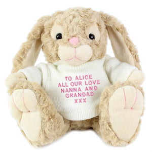 Personalised Bunny Rabbit Cuddly Toy from SommerSparkle