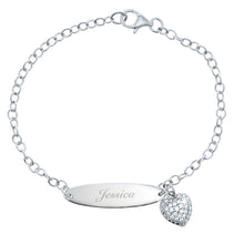 Personalised Child's Sterling Silver Bracelet