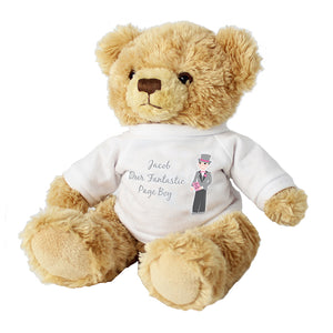 Personalised Page Boy Teddy Bear Cuddly Toy