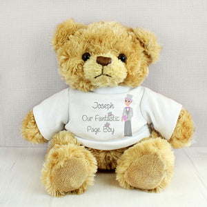 Personalised Page Boy Teddy Bear Cuddly Toy from SommerSparkle
