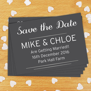 Personalised Save the Date or Thank You Cards 24 Pack