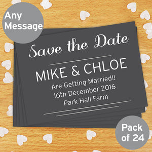 Personalised Save the Date or Thank You Cards 24 Pack from SommerSparkle